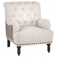 Tartonelle - Ivory/Taupe - Accent Chair