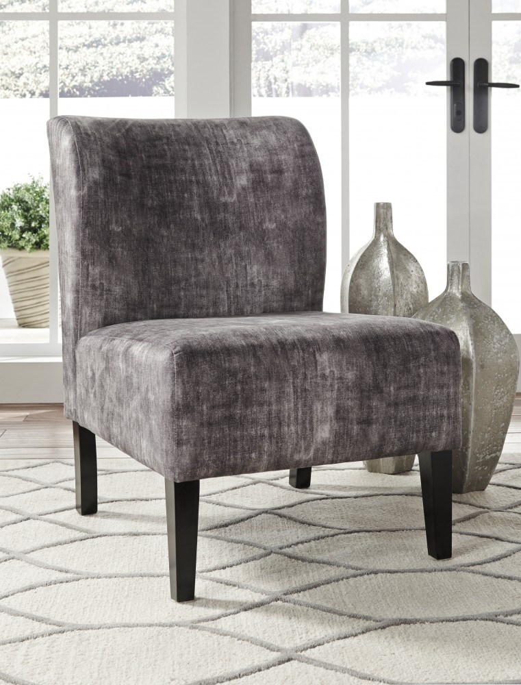 Triptis Charcoal Accent Chair A3000064 Chairs One Stop