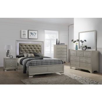 Nikola Bedroom Set Dresser Mirror Queen Bed