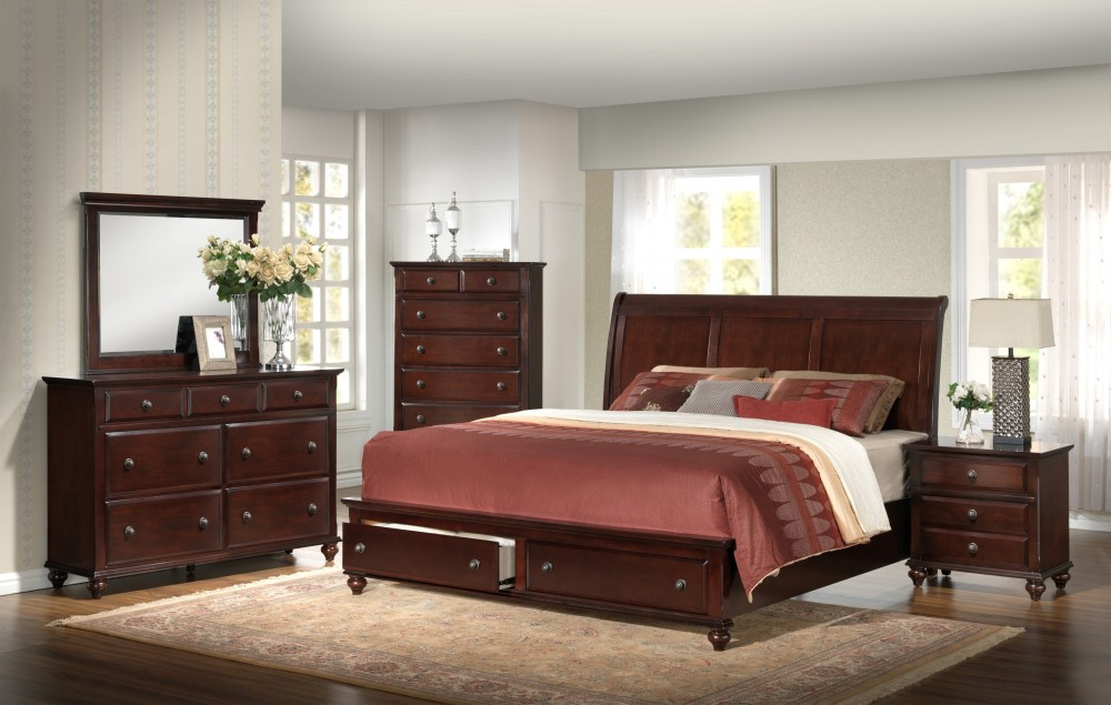 Portsmouth Bedroom Group Dresser Mirror Queen Bed