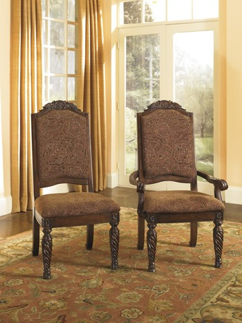 North Shore Dining Uph Arm Chair Set Of 2 D553 02a Arm