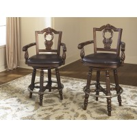 North Shore - Tall UPH Swivel Barstool(1/CN)