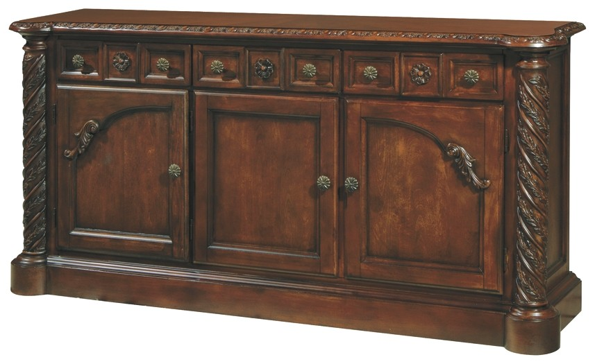 North Shore Dining Room Buffet D553 80 Servers American Home