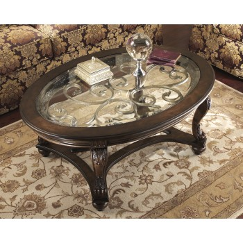 Norcastle - Oval Cocktail Table