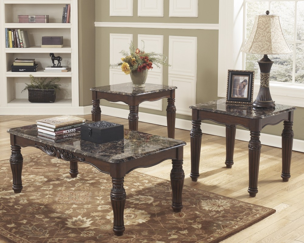 North Shore - Occasional Table Set (Set of 3) & North Shore - Occasional Table Set (Set of 3) | T533-13 | Three ...