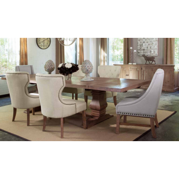Florence Pc Double Trestle Dining Table Collection - Double trestle dining table