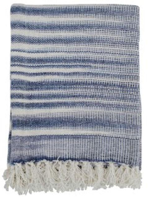 Agustin - White/Blue - Throw