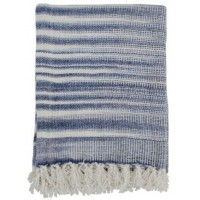 Agustin - White/Blue - Throw