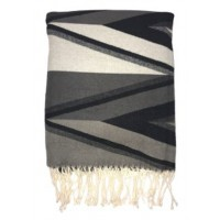 Cecile - Black/Gray - Throw