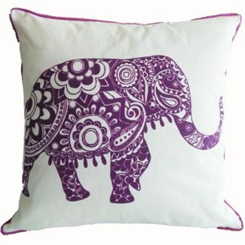 Medan - White/Purple - Pillow
