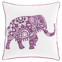Medan - White/Purple - Pillow