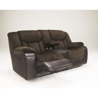 Tafton - Java - Double Rec Loveseat w/Console