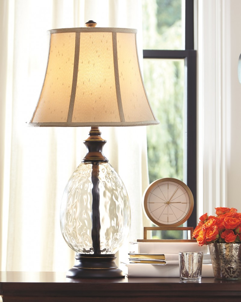 Olivia - Glass Table Lamp (Set of 2)