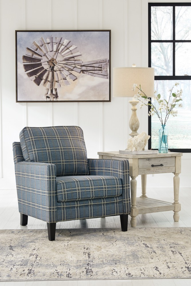 Traemore linen accent chair 2740321 living room chairs price busters furniture for Occasional chairs for living room