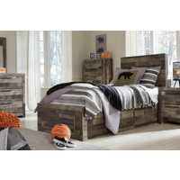 Derekson - Multi Gray - Twin/Full Under Bed Storage