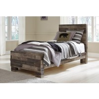 Derekson - Multi Gray - Twin Panel Footboard