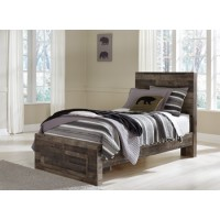Derekson - Multi Gray - Twin Storage Footboard