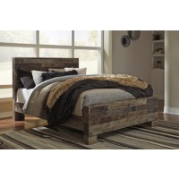 Derekson - Multi Gray - Queen Panel Footboard