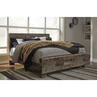 Derekson - Multi Gray - King Panel Footboard