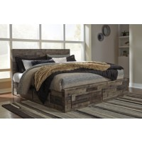Derekson - Multi Gray - King Storage Footboard