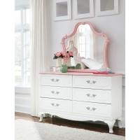 Laddi - White/Pink - Bedroom Mirror
