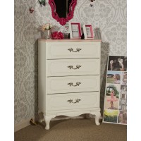 Laddi - White/Pink - Four Drawer Chest