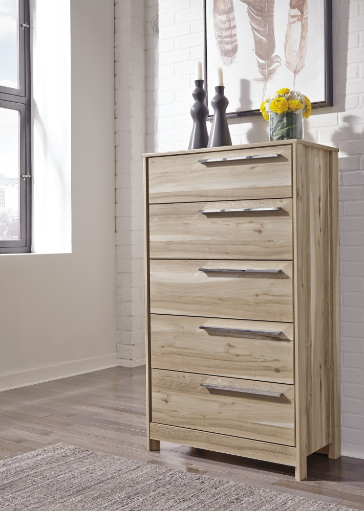 Kianni - Taupe - Five Drawer Chest