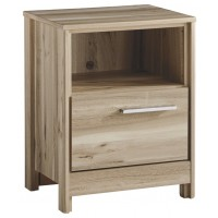 Kianni - Taupe - One Drawer Night Stand