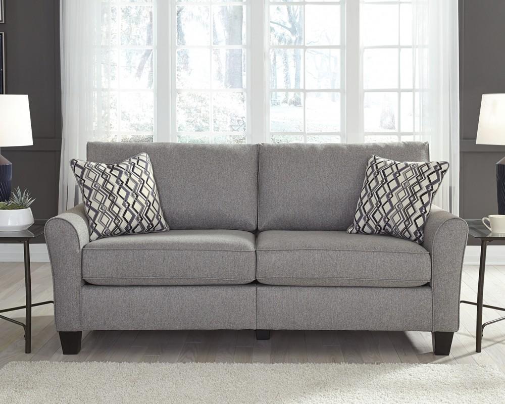 Strehela silver sofa sofas pruitt 39 s fine furniture for Pruitts bedroom sets