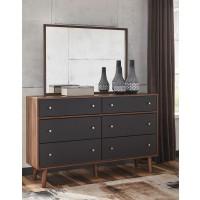 Daneston - Brown/Graphite - Bedroom Mirror