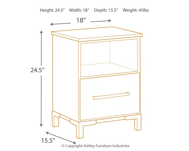 Evanni Multi One Drawer Night Stand Night Stands