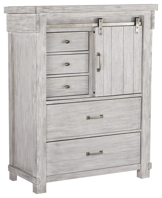Brashland White Five Drawer Chest B740 46 Bedroom Chests Price Busters Furniture