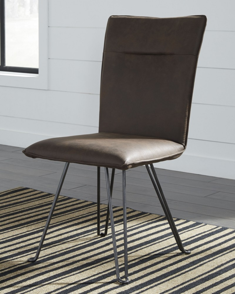 Moddano - Brown/Black - Dining UPH Side Chair (2/CN)