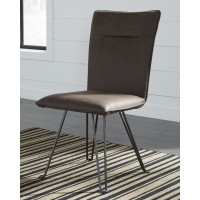 Moddano - Brown/Black - Dining UPH Side Chair (2/CN)