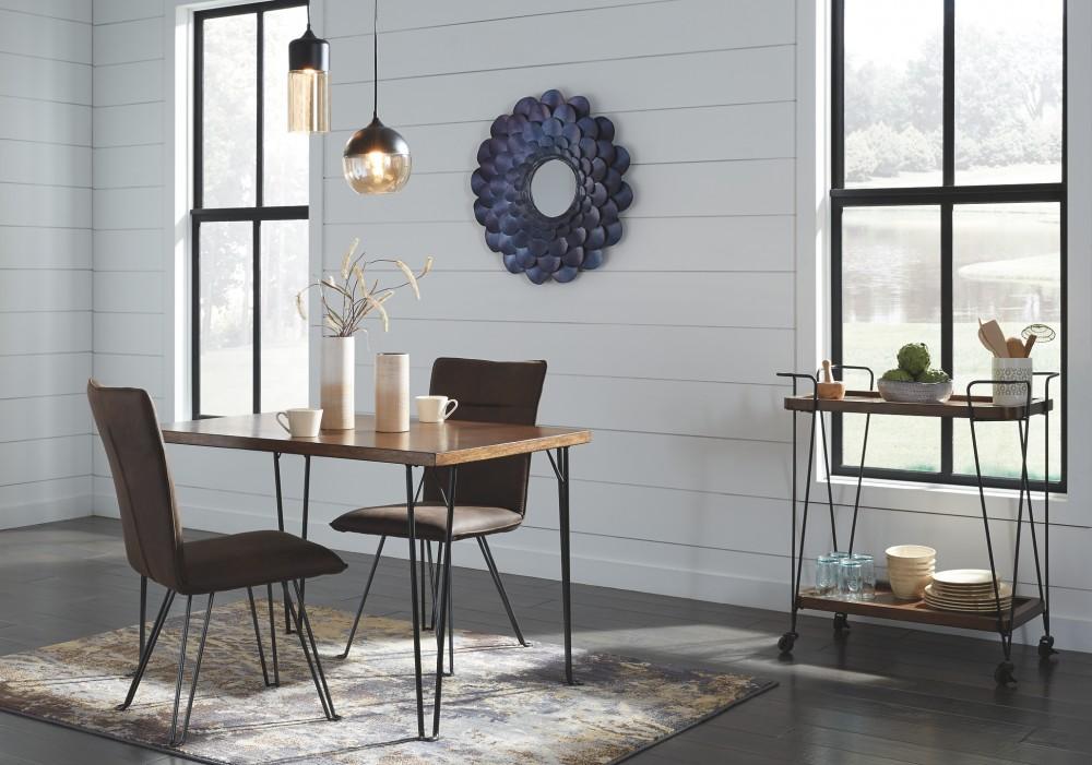 Moddano - Brown/Black - Rectangular Dining Table