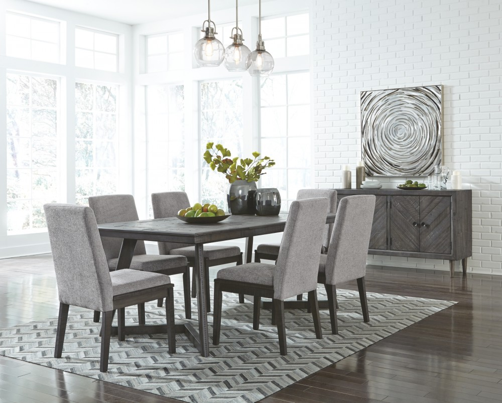Grey Dining Room Chairs: Rectangular Dining Room Table