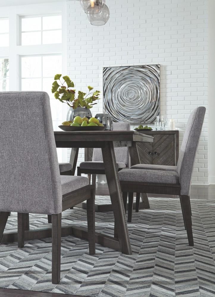 Besteneer - Dark Gray - Rectangular Dining Room Table