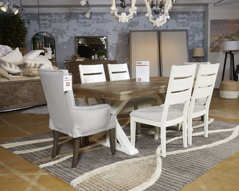 Grindleburg WhiteLight Brown Dining UPH Arm Chair 48CN D48 Extraordinary Arm Chair Dining Room