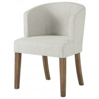 Grindleburg - White/Light Brown - Dining UPH Arm Chair (1/CN)