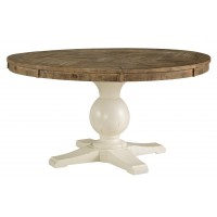 Grindleburg - White/Light Brown - Dining Room Table Base