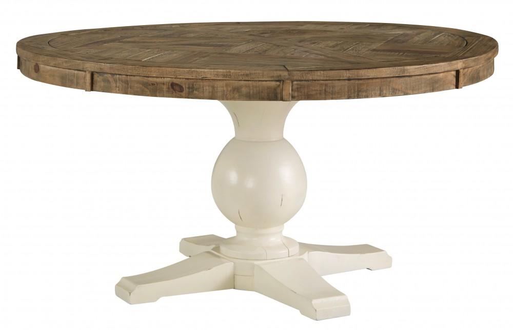 Grindleburg WhiteLight Brown Round Dining Room Table Top D - Wood dining room table tops