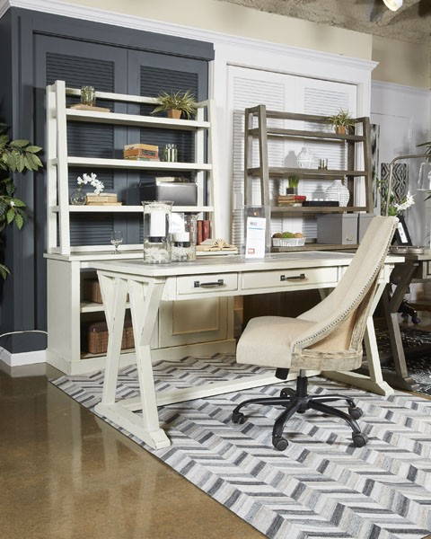 Bon Jonileene   White/Gray   Home Office Large Leg Desk