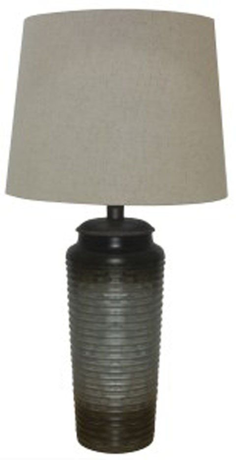 Gray Table Lamps Interesting Norbert Gray Metal Table Lamp 60CN L6004064 Lamps Sandy's
