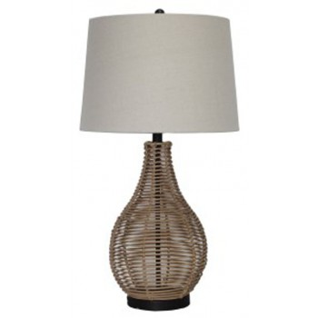 Erwin brown rattan table lamp 2cn l327224 lamps sleep erwin brown rattan table lamp 2cn l327224 lamps sleep shoppe and furniture gallery aloadofball Images