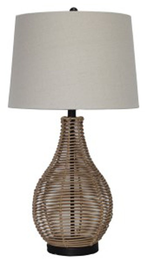 Erwin brown rattan table lamp 2cn l327224 lamps dayton erwin brown rattan table lamp 2cn aloadofball Choice Image