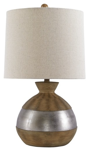 Mandla - Brown/Silver Finish - Poly Table Lamp (1/CN)