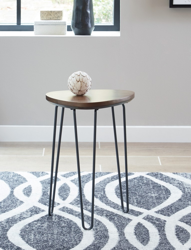 Courager - Brown/Black - Chair Side End Table