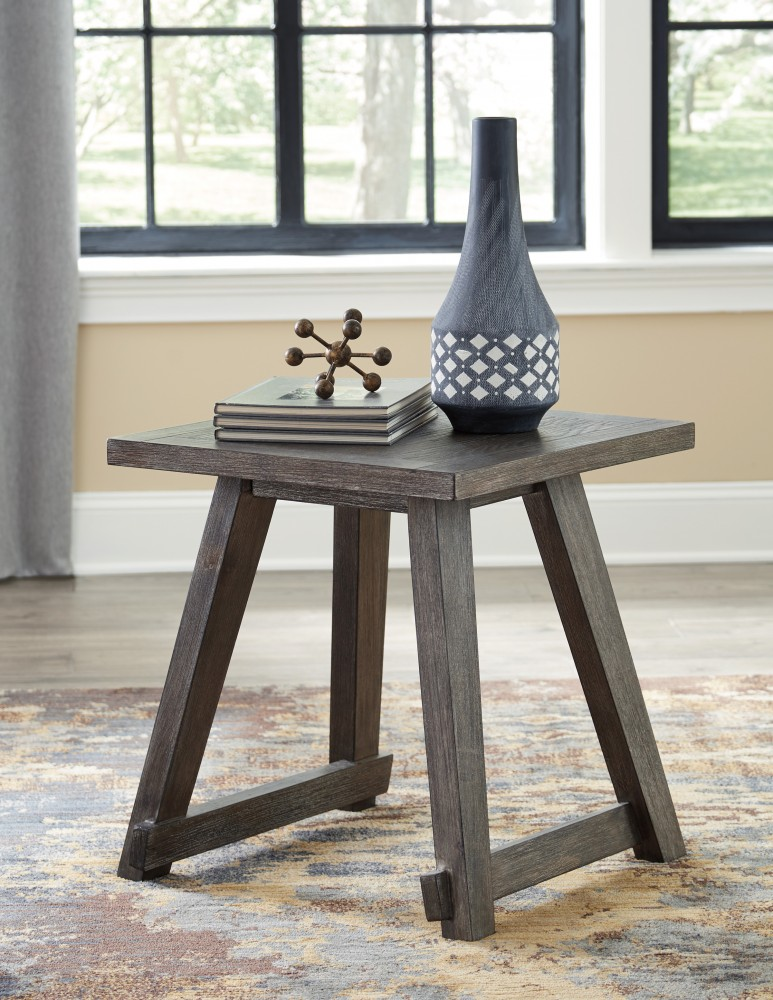 Harpoli   Dark Brown   Square End Table