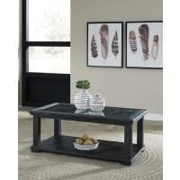 Tyler Creek - Black - Rectangular Cocktail Table
