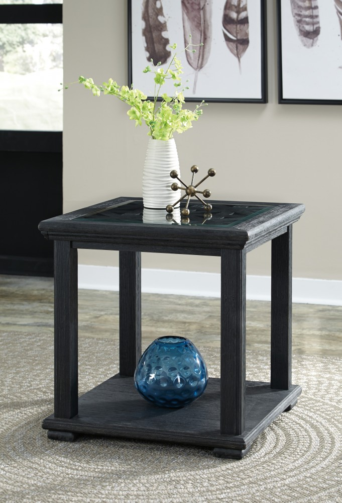 Tyler Creek   Black   Square End Table